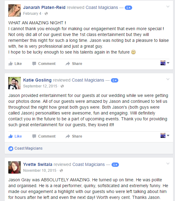 gold coast magician reviews